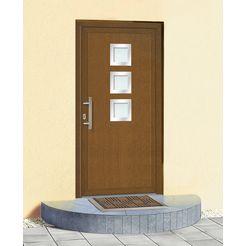 km meeth zaun gmbh kunststof voordeur »kt34«, bxh: 98x208 cm, bruin, in 2 varianten bruin