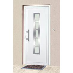 km meeth zaun gmbh kunststof voordeur »k640«, bxh: 108x208 cm, wit, in 2 varianten wit