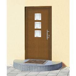 km meeth zaun gmbh kunststof voordeur »kt34«, bxh: 108x208 cm, bruin, in 2 varianten bruin