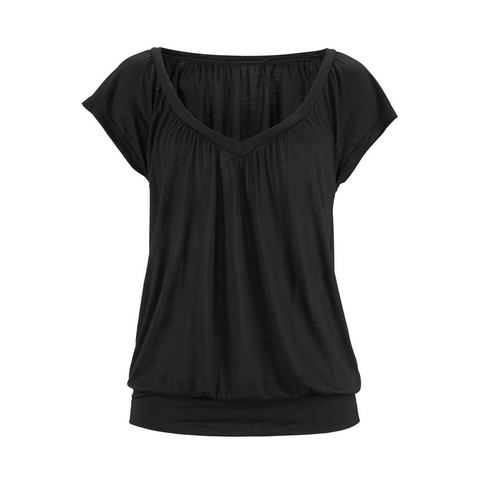 LASCANA Shirt met vleermuismouwen