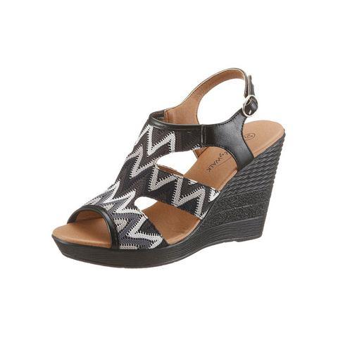 Dames schoen: CITY WALK Sleehaksandaaltjes in etno-look