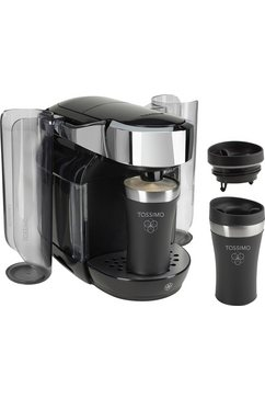 Bosch Tassimo Multi-dranken-automaat CADDY TAS7002DE1, mystical black, met 2 Travel Mugs