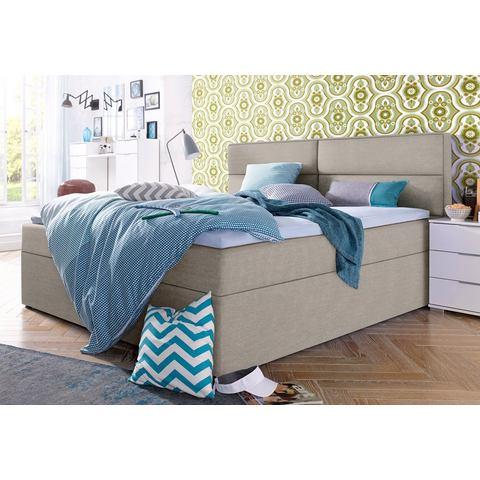 Bed met bedkist incl. topper Bonell binnenveringsmatras H2 beige Wimex 357056