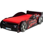 vipack furniture ledikant in raceauto-look rood