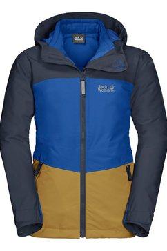 jack wolfskin functioneel 3-in-1-jack »argon ice 3in1 jacket kids« geel