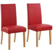 home affaire stoel robijn (set, 6 stuks) rood