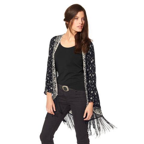 ANISTON Lange blouse met franje