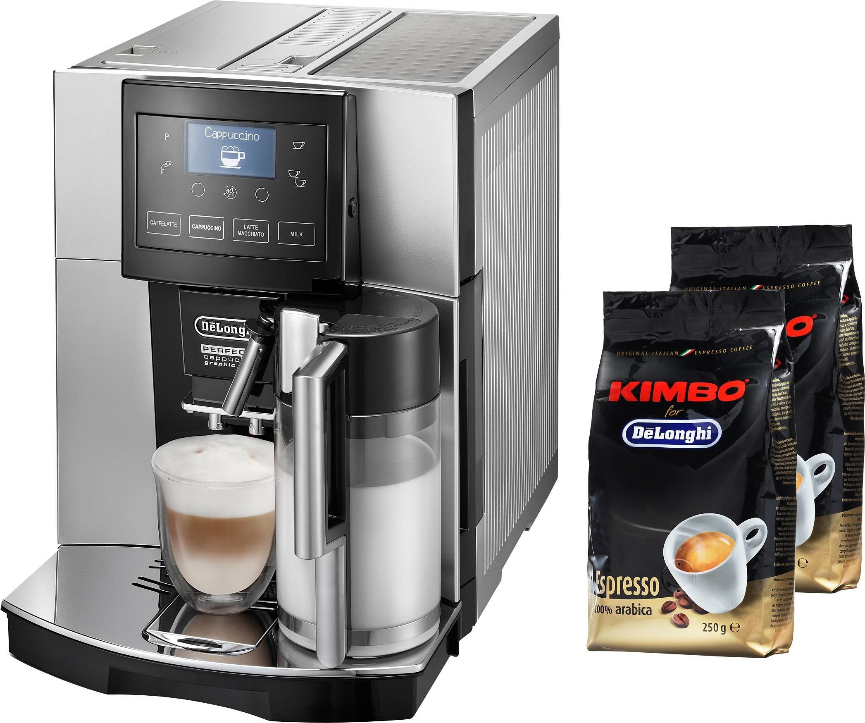 Delonghi volautomatisch koffiezetapparaat Perfecta ESAM 5708, zilverkleur nu online kopen bij OTTO