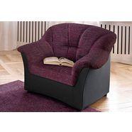 domo collection fauteuil, naar keuze met binnenvering paars