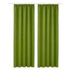 gordijn, my home, »raja«, met rimpelband (set van 2) groen