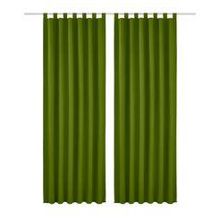 gordijn, my home, »raja«, met lussen (set van 2) groen