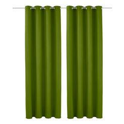 gordijn, my home, »raja«, met zeilringen (set van 2) groen
