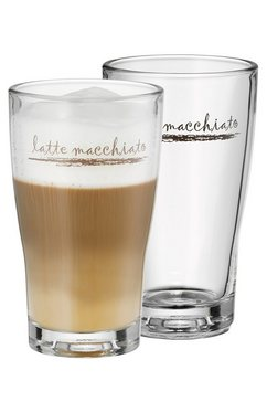 Latte macchiato-glas, set van 2