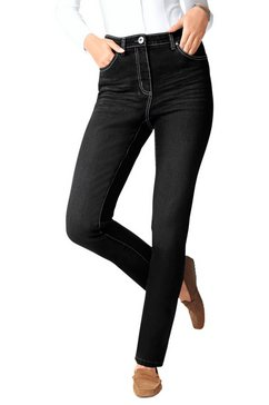 classic basics jeans in moderne used look zwart