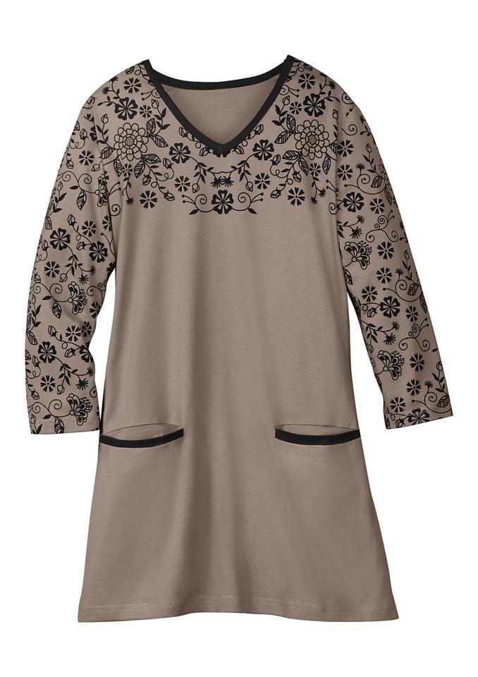 Shop Met Bloemenprint Lang Online Shirt F31JTlKc