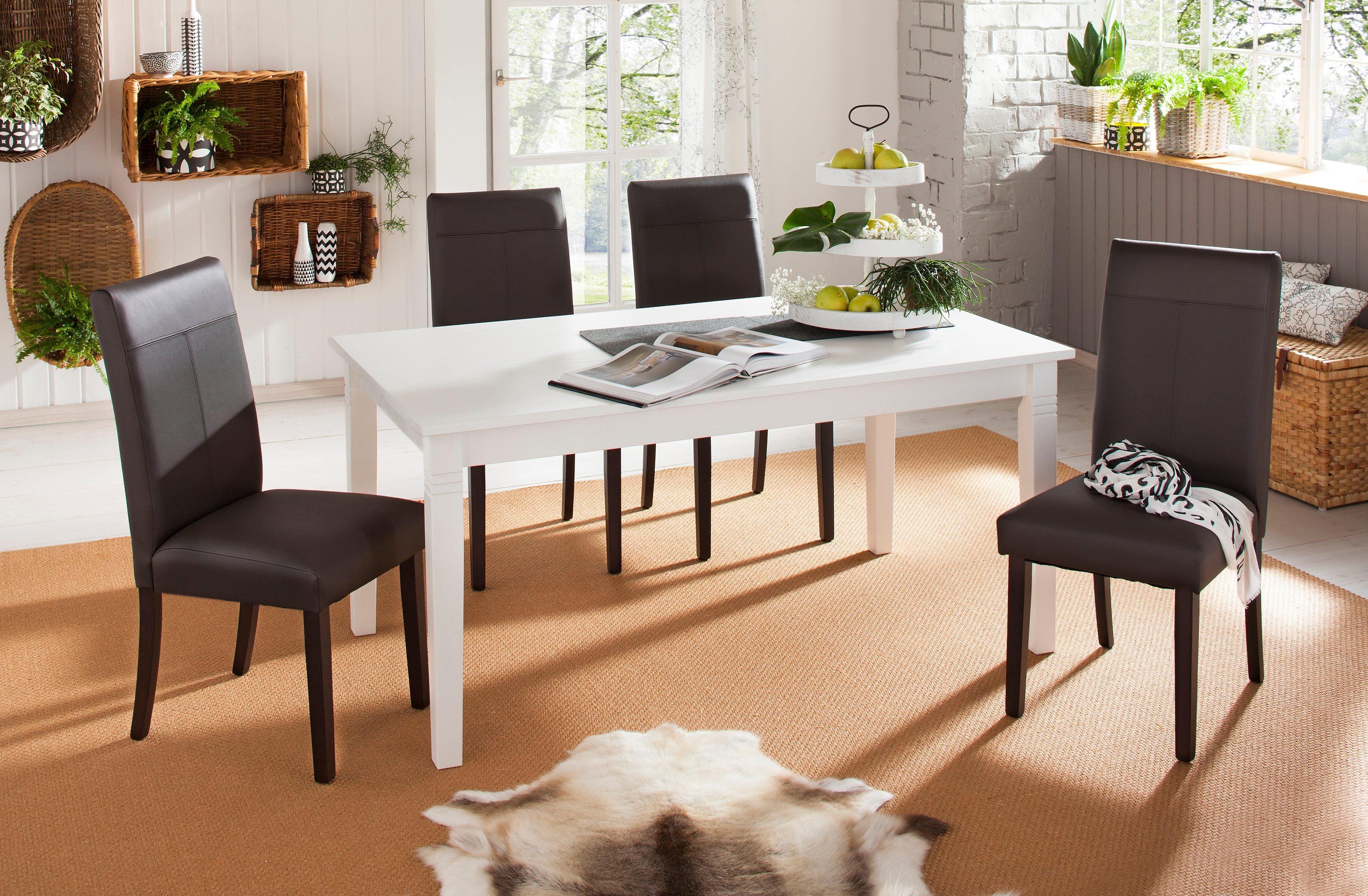 Massief Houten Tafel : Massief houten eettafel online bij otto