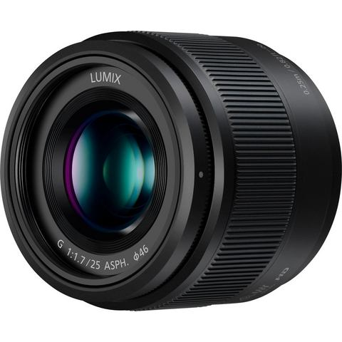 Panasonic Lumix G 25mm f-1.7 objectief Zwart