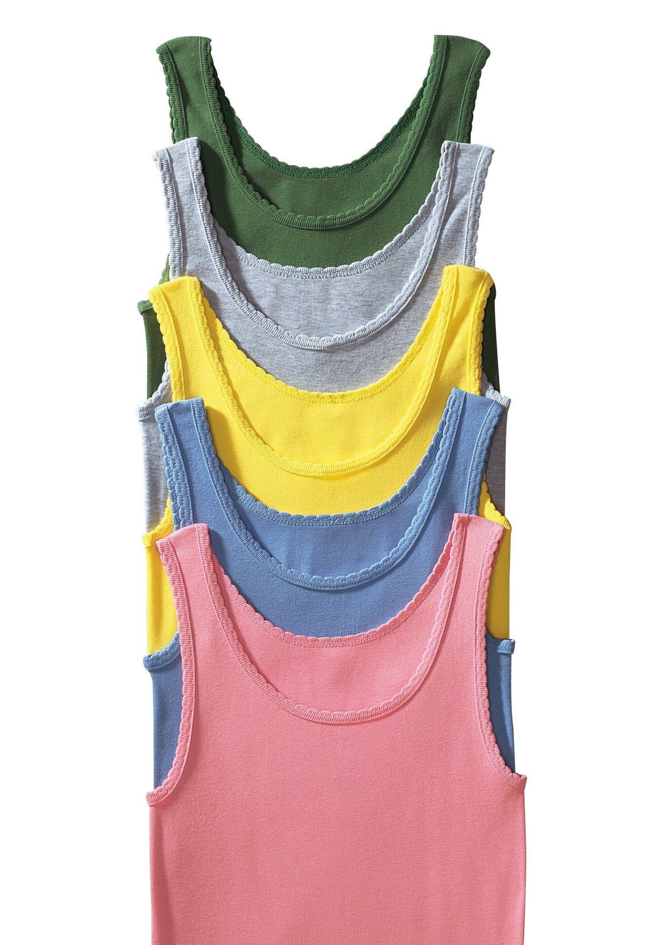 PETITE FLEUR dubbelrib-tanktophemd »Cotton made in Africa« (set van 5) bestellen: 30 dagen bedenktijd