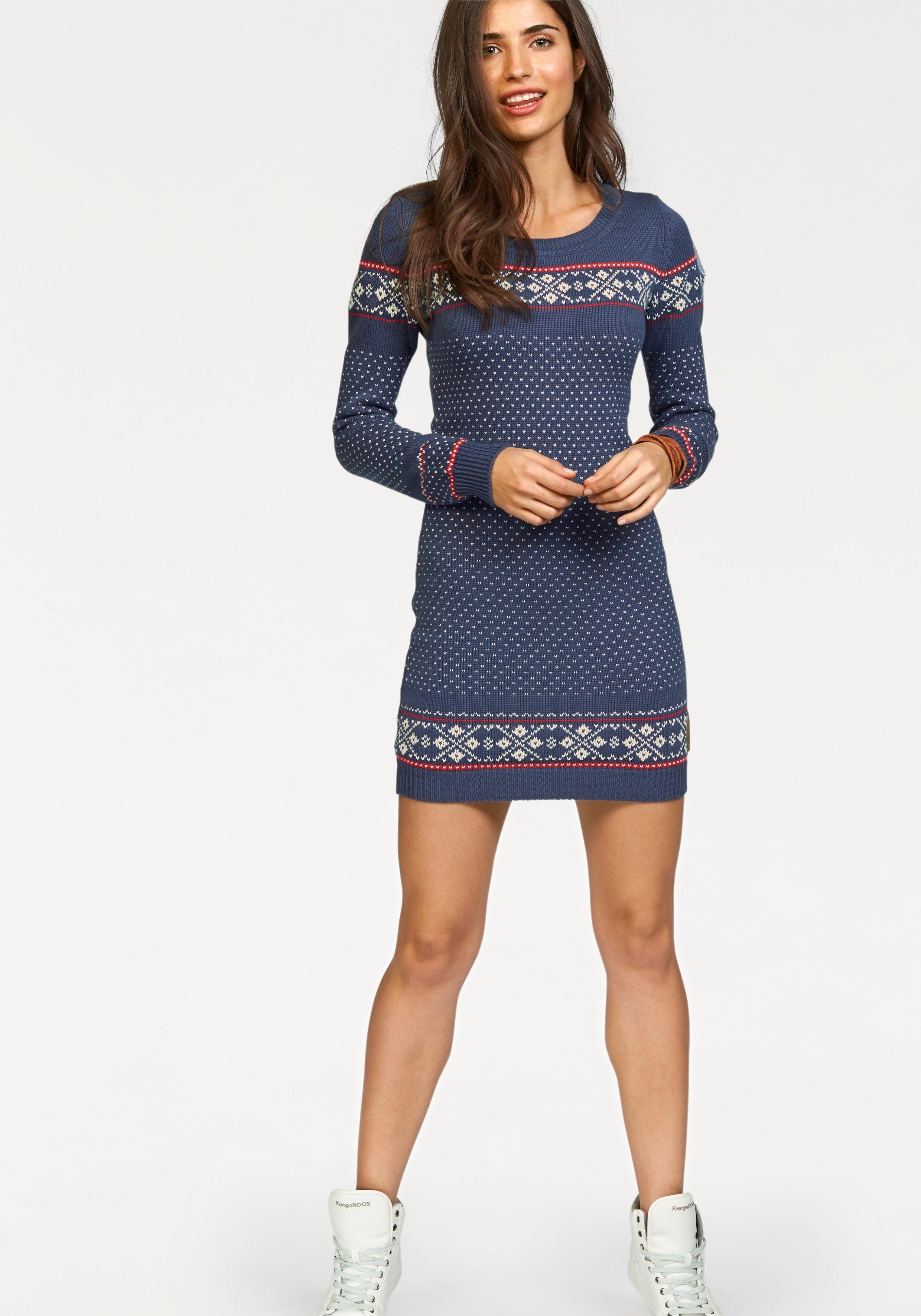 Gebreide jurk met Noors motief bestellen | s.Oliver Online Shop