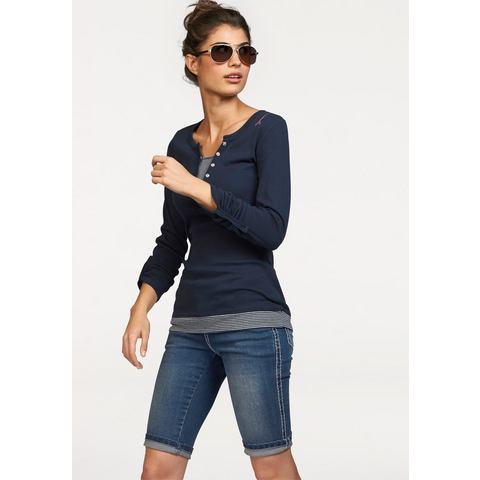 NU 15% KORTING: KangaROOS 2-in-1-shirt met lange mouwen