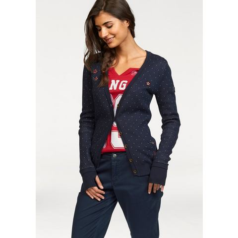KANGAROOS Cardigan met applicaties voor