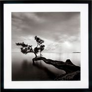 gc ingelijste artprint »levy: beach motiv 4«, 50x50 cm zwart