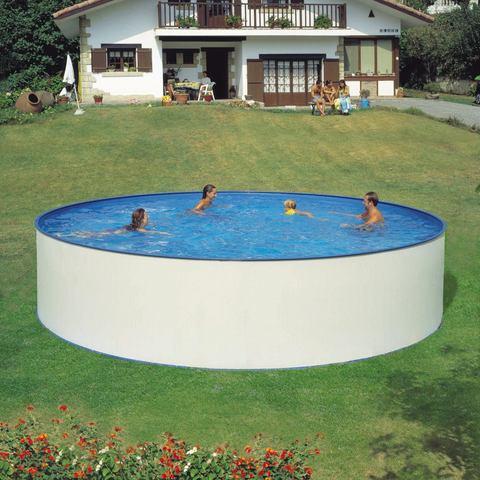 HANSEATIC set: Rond zwembad Complete set: rond zwembad met veiligheidstrap en filterinstallatie 3 m�