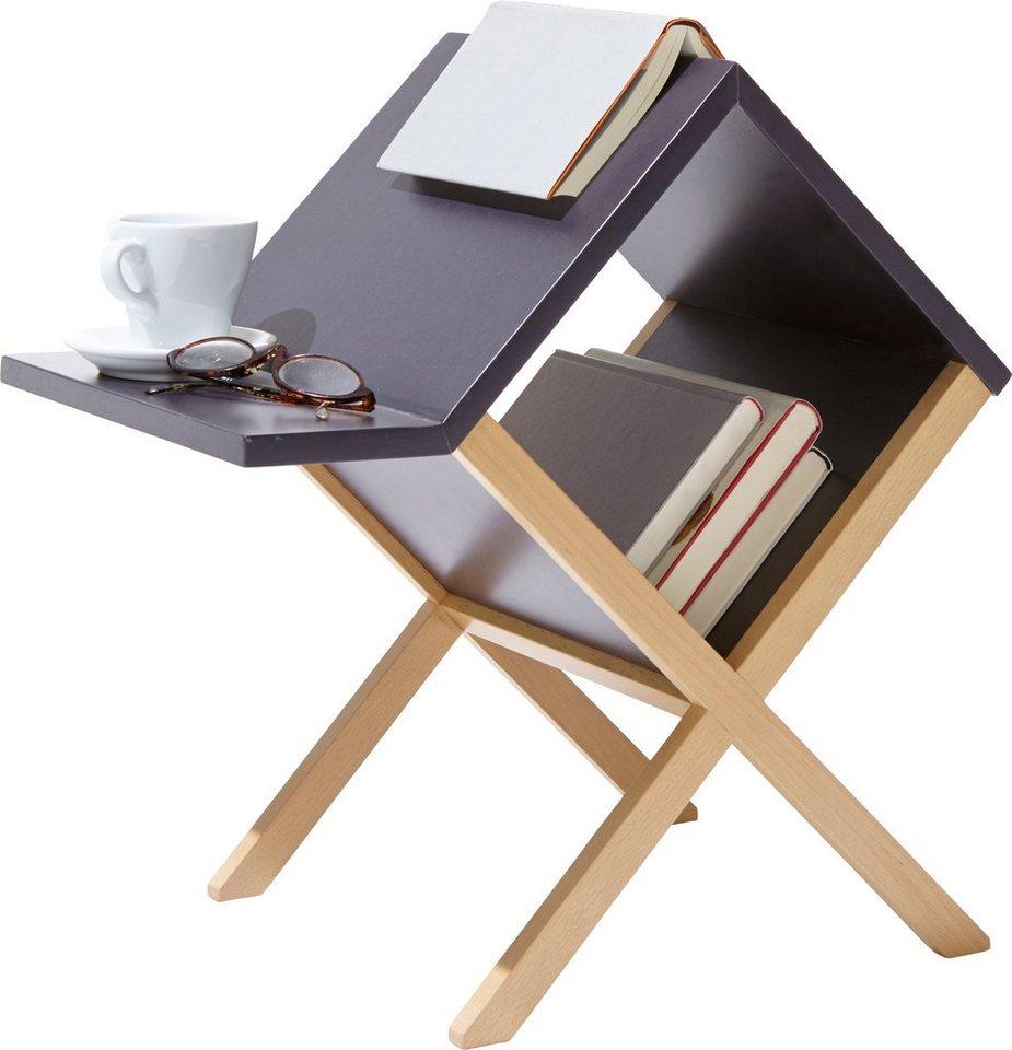 emform® salontafel BUCHTISCH in ongewoon, functioneel design