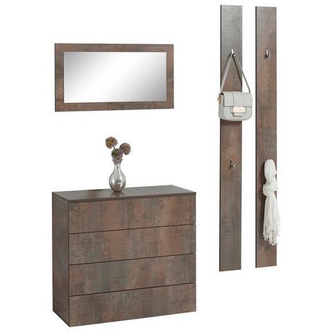 Complete garderobes Halmeubelset Rova 3-delig 833301