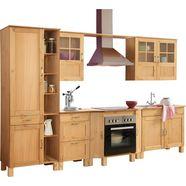 home affaire keukenset alby zonder elektrische apparaten, breedte 325 cm, van massief grenen beige