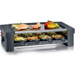 severin pizza-raclette grill rg 2687 zwart