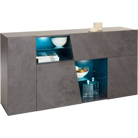 Dressoirs INOSIGN sideboard in diagonale look breedte 160 cm 587465