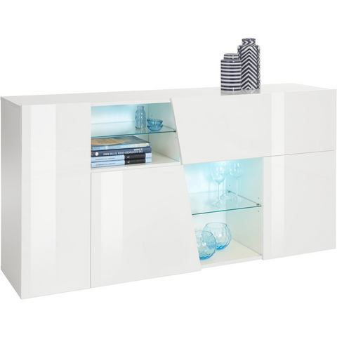 Dressoirs INOSIGN sideboard in diagonale look breedte 160 cm 692139