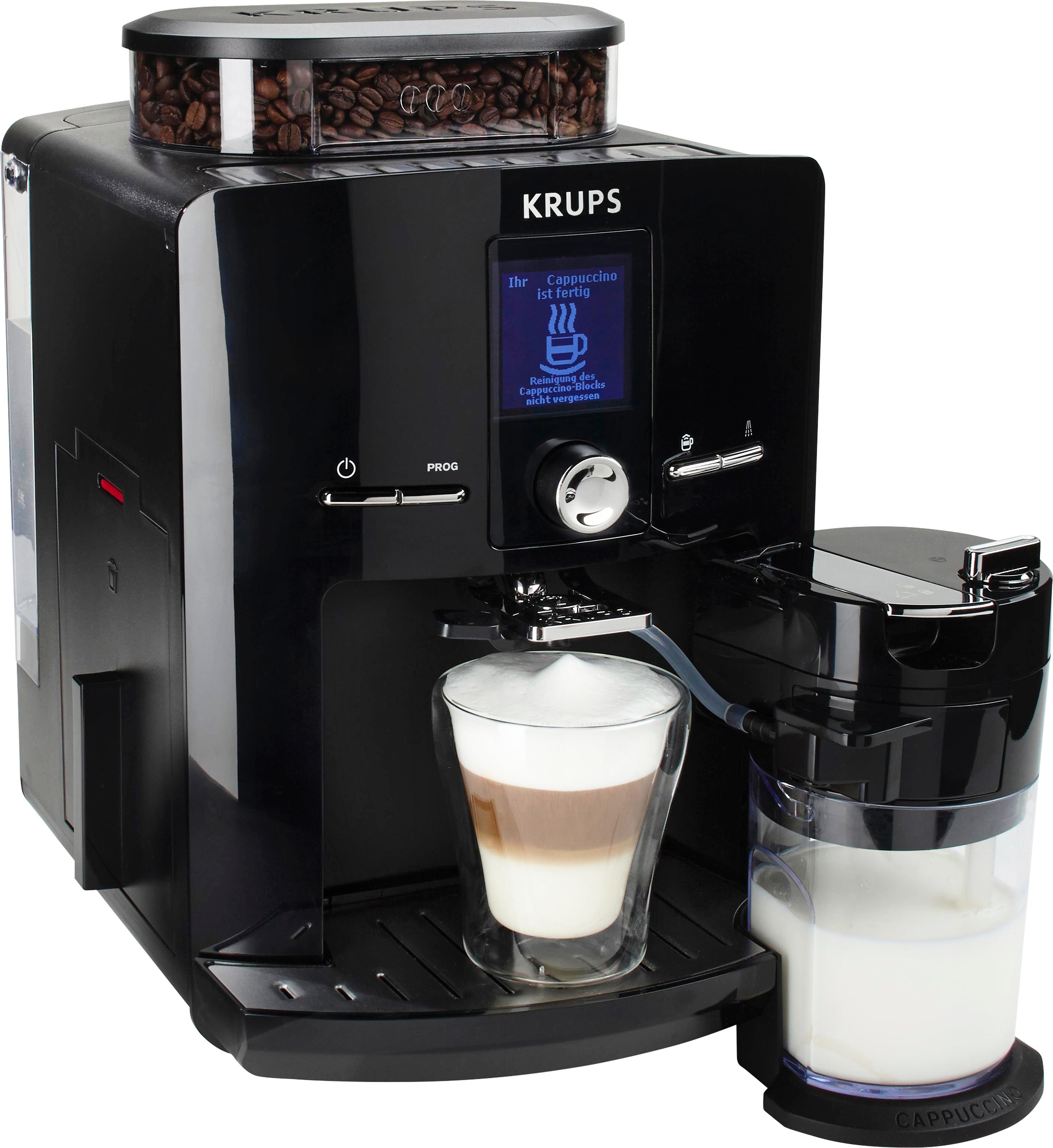 Krups volautomatisch koffiezetapparaat Latt´Espress EA8298, zwart bestellen: 14 dagen bedenktijd