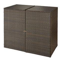 hansegartenland kliko-ombouw, voor 2x240 l van poly-rotan b-d-h: 150-78-123 cm bruin