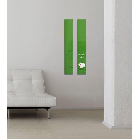 Glasbord Sigel magnetisch 120x780x15mm groen