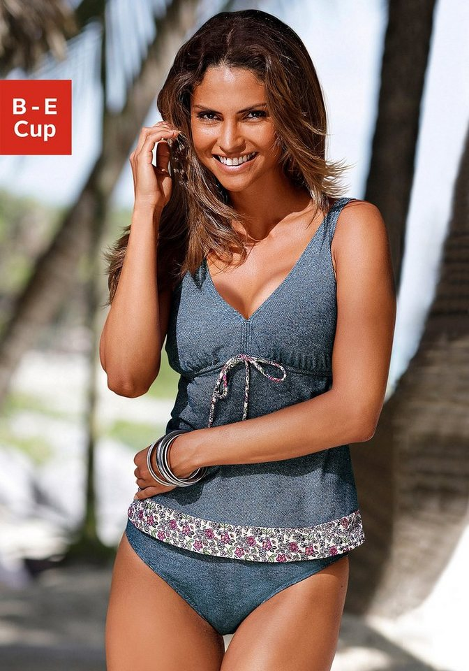 NU 20% KORTING: S.OLIVER Beugeltankini in jeans-look