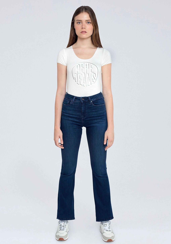 Pepe Jeans bootcut jeans DION FLARE met hoge band, stretchaandeel en in 7/8-lengte bestellen: 30 dagen bedenktijd