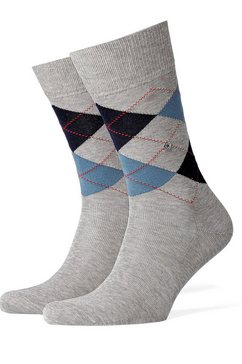 burlington basic sokken »manchester« (1 paar) grijs