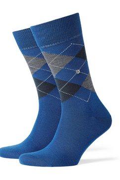 burlington sokken van fijne scheerwol blauw