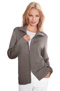 casual looks vest in comfortabele materialenmix grijs