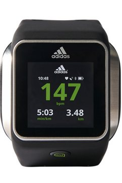 hartslagmeter smartwatch, zwart, »miCoach Smart Run«
