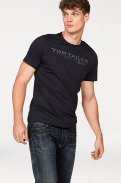 tom tailor t-shirt met logoprint blauw