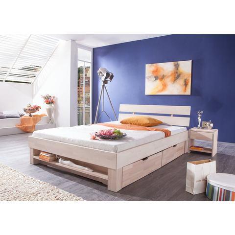 RELITA Bed van massief beuken wit Relita 409757