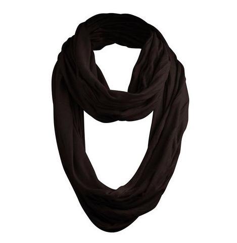 MASTERDIS Ronde sjaal in uniseks-model zwart