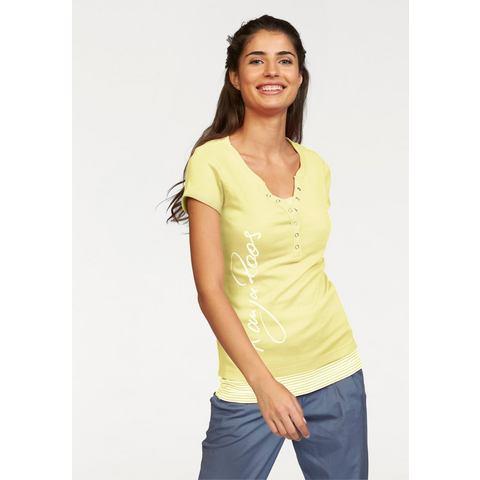 Kangaroos shirt + gestreepte top, 2-delige set