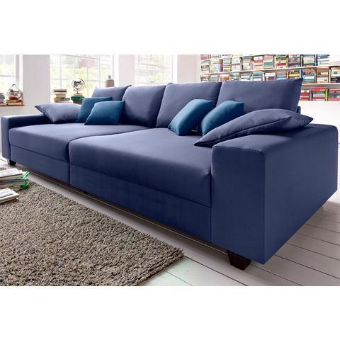 woonkamer extra groot bankstel blauw Megabank naar keuze met RGB LED verlichting 108