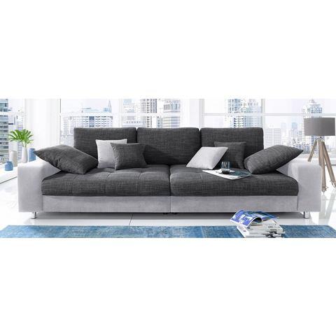 woonkamer extra groot bankstel grijs Megabank naar keuze met RGB LED verlichting 67