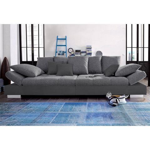 woonkamer extra groot bankstel grijs Megabank naar keuze RGB LED verlichting 79