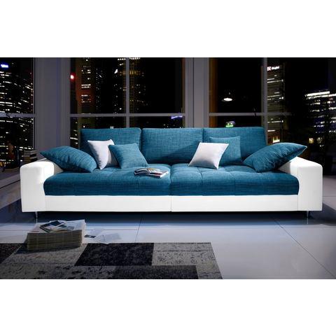 woonkamer extra groot bankstel wit Megabank naar keuze met RGB LED verlichting 66